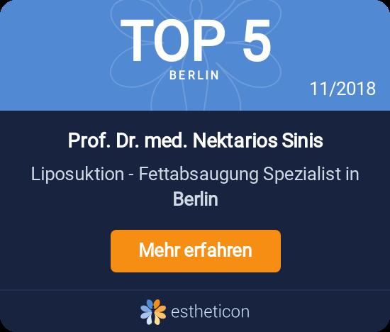 Estheticon-Auszeichnung Top 5 Berlin Fettabsaugung